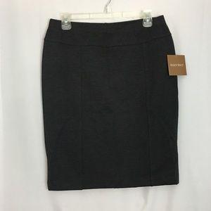 New Women's Pencil Skirt Stretch Gray Ellen Tracy